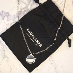 BaubleBar Silver Snowfall Pendant Necklace